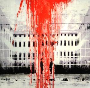 pintura roja 100x100